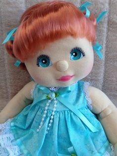 My Child Doll Red DR Aqua Charcoal
