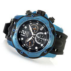 633-440 - Invicta 52mm Speedway Quartz Chronograph Polyurethane Strap Watch w/ Three-Slot Dive Case