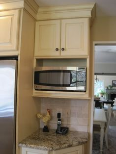 Microwave Cabinet - garden web forum. perfect shelving