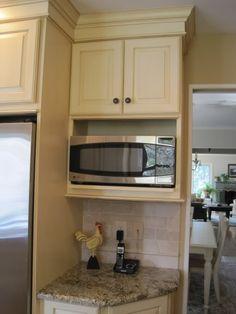 Just an idea free microwave shelf plans how to for Kraftmaid microwave shelf