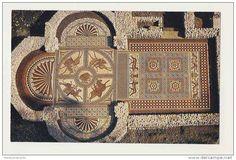 Geometrías en el mosaico de la Villa Romana de Littlecote, Inglaterra.