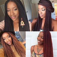 #Braid Hairstyles - Grow Long Hair & Regrow Thinning Bald Spots... CLICK LINK ----> http://www.dawnali.com/long-real-black-hair-natural-and-relaxed-super-growth-oils/ - Dawn Ali #dawnali - There's no denying it, I ❤️ box braids!!