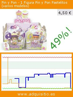 Pin y Pon - 1 Figura Pin y Pon Pastelitos (varios modelos) (Juguete). Baja 49%! Precio actual 4,50 €, el precio anterior fue de 8,82 €. https://www.adquisitio.es/famosa/pinypon-700010255-figuras
