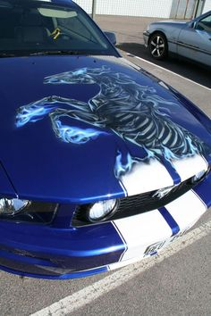 53 trendy custom cars for girls ford mustangs Mustang Girl, Ford Mustang Gt, 2007 Mustang, Cool Sports Cars, Cool Cars, My Dream Car, Dream Cars, Airbrush, Car Paint Jobs