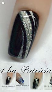 Autumn nails black glitter nails Nails The Portable Perennial Garden gardens, gardening, container g Classy Nails, Stylish Nails, Trendy Nails, Cute Nails, Black Nail Designs, Acrylic Nail Designs, Nail Art Designs, Nails Design, Hair And Nails