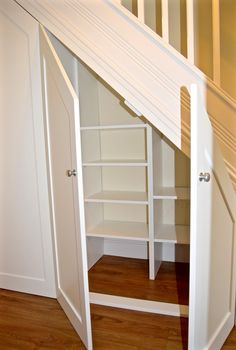 Understairs Storage Door Under Stairs . Understairs Storage Door Under Stairs . Pin On for the Home Cabinet Under Stairs, Shelves Under Stairs, Closet Under Stairs, Space Under Stairs, Stair Shelves, Staircase Storage, Diy Storage Shelves, Basement Storage, Staircase Design
