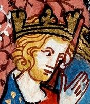 Henry (Henri) I king of the Franks: the Capetian realm was at its smallest during his reign (1027-1060; crowned while his father was still alive.) Uncle of Matilda of Flanders, Wm. the Conqueror's queen.  Married Matilda of Frisia, who died following a C-section, then the learned and redoubtable Anna of Kiev, w/whom he had 4 children. (Abdicated the Duchy of Burgundy to brother Robert.)
