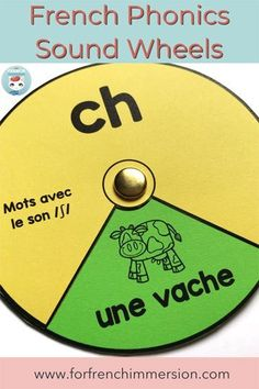 These French phonics wheels will get your students excited about working with French sounds. Second Language, Foreign Language, French Language, Language Arts, Read In French, French Class, French Lessons, Grade 1 Reading, Reading Words