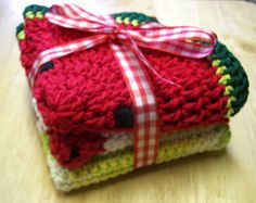 Hey, I found this really awesome Etsy listing at https://www.etsy.com/listing/227706116/on-sale-crochet-dishcloths-set-of-three