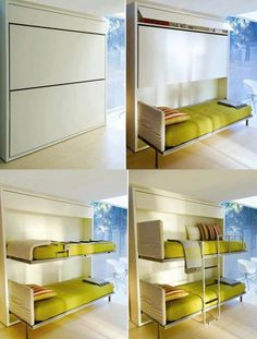Space saver wall beds for studio
