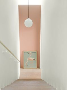 Wall Paint: Fenomastic My home Rich Matt: 2992 Delightful pink, Rich Matt 1624 Skylight Decor, Hallway Colours, Colorful Interiors, Interior, Wall Colors, Jotun Lady, Wall Color, Urban Living, Pink Hallway
