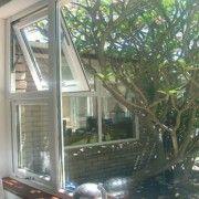 Double glazed top hung uPVC window