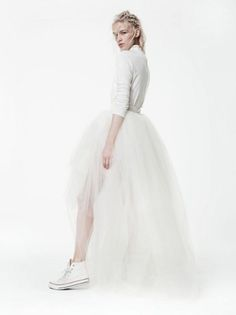 Houghton NYC, Worth, $675 (bodysuit) $5,250 (skirt), view at Houghton NYC.
