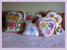 Vintage Chenille Pillows c/o Nesha's Vintage Niche