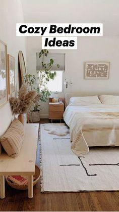 Guest Bedroom Decor, Cozy Bedroom, Cute Home Decor, Bedroom Accessories, Dream Home Design, Minimalist Bedroom, Bedroom Styles, Home Decor Inspiration, Bedroom Furniture