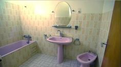 3. Bathroom at 1970's villa in Poussan France featured on A Place in the Sun Home or Away on Channel 4.JPG