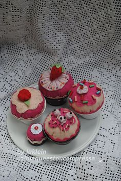 cupcakes  feltro, felt reuse, 3 Rs Lucia