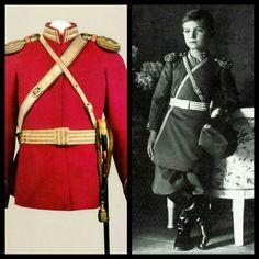 """Tsarevich Alexei Nikolaevich Romanov of Russia's uniform. """"AL"""""""