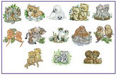 Baby Animals Set 2 Machine Embroidery Designs  Pes by CreaInvento