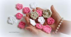 Kytička Begonia 1-2-3 · Návody háčkování Krampolinka Begonia, Photo Props, Free Crochet, Crochet Necklace, Crochet Patterns, Design, All Free Crochet, Crochet Pattern
