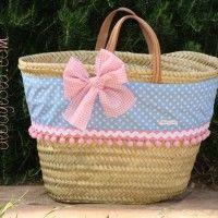 capazo Beach Basket, Market Baskets, Bag Organization, My Bags, Travel Bags, Diy And Crafts, Patches, Tote Bag, Handbags