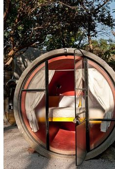 Mexico's unusual (and cheap!) resort built from reused drainage pipes.