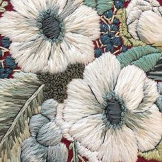 #embroidery #flowers