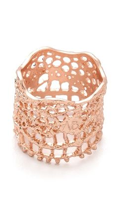 Ahhh...I want this Aurelie Bidermann's Vintage Lace Laser Cut Ring