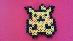 Poke'Mon Pikachu Perler Fridge Magnet