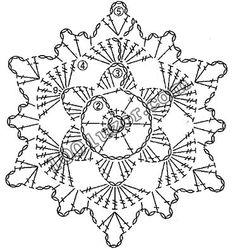 1001 узор. Узоры крючком. Мотивы Crochet Snowflake Pattern, Crochet Stars, Crochet Circles, Crochet Snowflakes, Doily Patterns, Thread Crochet, Crochet Granny, Crochet Motif, Crochet Designs