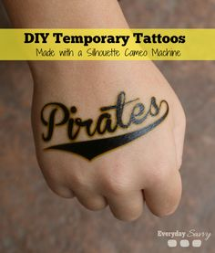 DIY Temporary Tattoos Made with a Silhouette Cameo. Fun for kids!