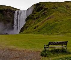 I would just like to sit on that bench n take in the scenery! (Some where in Iceland).