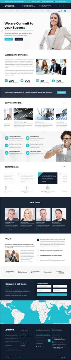 Dynamic is the perfect responsive #WordPress Template for #corporate website like #Financial Advisor, Accountant, insurance, Consulting Firms website download now➩  https://themeforest.net/item/dynamic-finance-and-consulting-business-wordpress-theme/17813573?ref=Datasata