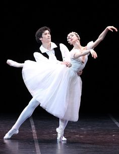 "Yekaterina Osmolkina Екатерина Осмолкина and Danila Korsuntsev Данила Корсунцев (Mariinsky Ballet), ""La Sylphide"" choreography by August Bourneville, 2016 Charity Gala Concert of Opera and Ballet Stars. Concert in support of children and adults with mental disabilities. Alexandrinsky Theatre (June 3, 2016)"