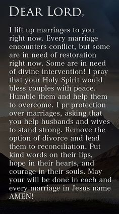 Prayer Of The Day – Restoration In Marriage --- Dear Lord, I lift up marriages to you right now. Every marriage encounters conflict, but some are in need of restoration right now. Some are in need of divine intervention! I pray that your Holy Spirit would bless couples with peace. Humble them and… Read More Here http://unveiledwife.com/prayer-of-the-day-restoration-in-marriage/ - Marriage, Love marriage, marriage tips #marriage