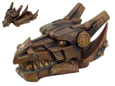 This great box is perfect for any dragon fan who also has an appreciation for the Steampunk genre! The box is shaped like the head of a dragon, but looks to be comprised of metal pieces. The mechanical dragon skull opens to reveal a place to store your treasures and baubles.