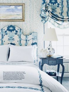 Pretty blue bedroom