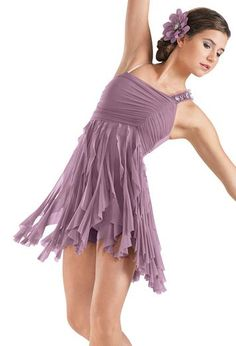 One Shoulder Cascade Ruffle Dress | Balera™ --- THIS IS ELITE LYRICAL. SERIOUSLY!!!! THIS IS IT!!!!