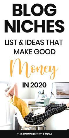 profitable niches for 2020 Make Money Fast, Make Money Blogging, Make Money From Home, Earn Money, Make Blog, How To Start A Blog, Budget Planer, Blog Topics, Blogger Tips
