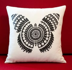 now to keep sticky fingers away! Cute Pillows, Throw Pillows, Butterfly Cushion, Something Beautiful, Designer Collection, Cushions, Textiles, Sticky Fingers, Zentangles