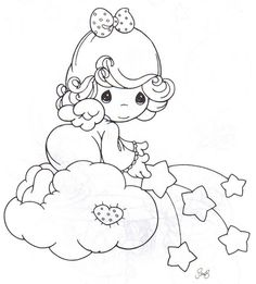 Precious Moments coloring picture … | Pinteres…