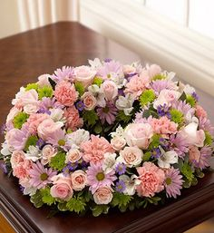 1-800-Flowers - Cremation Wreath - Multicolor Pastel - Large - http://yourflowers.us/1-800-flowers-cremation-wreath-multicolor-pastel-large/