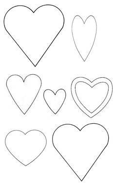 Your ultimate template collection :: allaboutyou.com HEART SHAPES