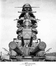 "The main cannon of the Japanese  battleship ""Nagato"""