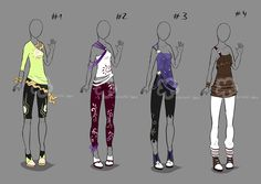 Some Outfit Adopts #18 - sold by Nahemii-san.deviantart.com on @deviantART