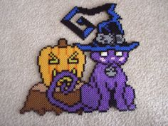 Blair the Cat w/t Pumpkin Perler by ~Neeko96 on deviantART