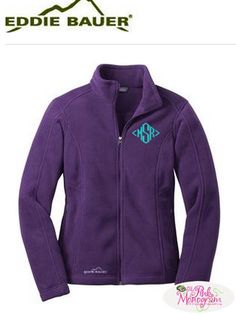 Ladies this super soft and warm Eddie Bauer full zip jacket is as comfortable as…