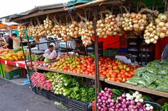 Food market in Costa Rica