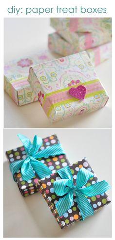 diy paper treat boxes