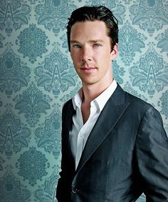 Benedict Cumberbatch. GET OUT. Your eyes match the freaking wallpaper. I can't take this anymore